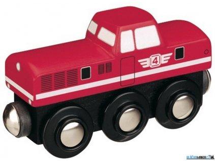 Mašinka - Lokomotiva dieselová červená Maxim