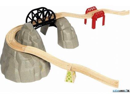 Set kolejí - Vysokohorská dráha, 12ks Bigjigs
