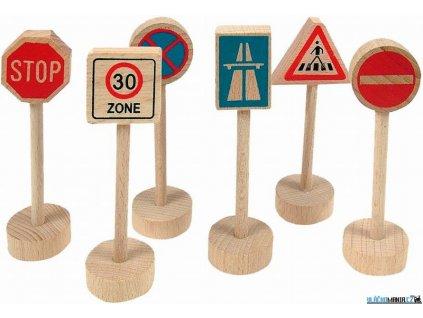 Set příslušenství - Dopravní značky, 6ks Woody