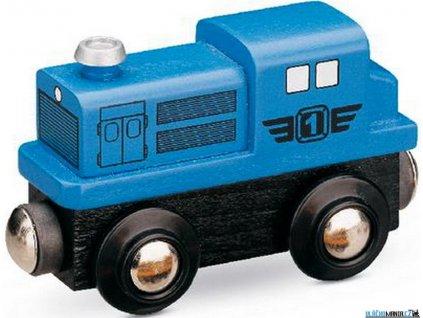 Mašinka - Lokomotiva dieselová modrá Maxim
