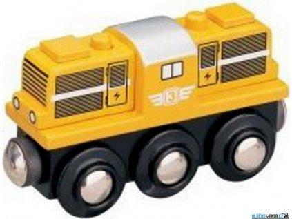 Mašinka - Lokomotiva dieselová žlutá Maxim