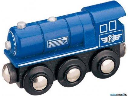 Mašinka - Lokomotiva parní modrá Maxim