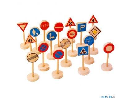 Set příslušenství -  Dopravní značky, 18ks Legler