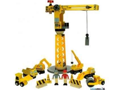 Jeřáb - Velký se stavebními stroji Bigjigs