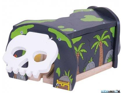 Tunel - Jeskyně lebka s výhybkou Bigjigs
