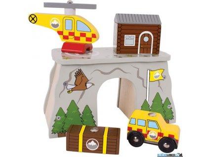 Tunel - Horská služba s heliportem Bigjigs