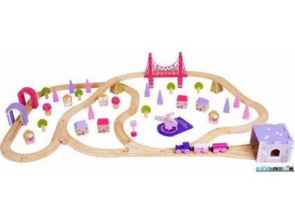 Vláčkodráha Bigjigs - Pro princezny město, 75 dílů