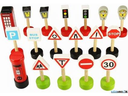 Set příslušenství - Dopravní značky, 18ks Bigjigs