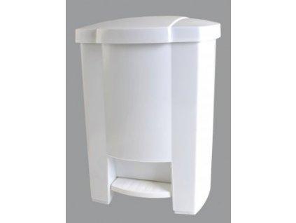 Odpadkový koš otevíraný nožním pedálem bílý 20 l
