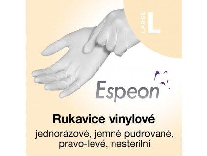Espeon vinylové rukavice lehce pudrované L