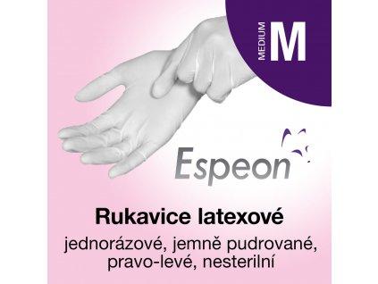 Espeon Latexové rukavice lehce pudrované M
