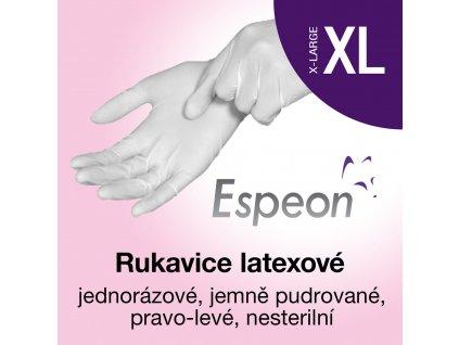 Espeon Latexové rukavice lehce pudrované XL
