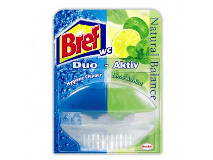 Bref Duo Aktiv Lime & Mint komplet WC gel závěs 50 ml