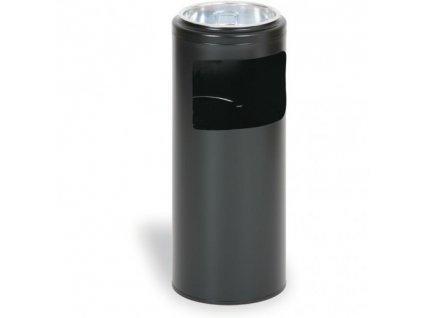 kovovy venkovni popelnik 20 litru cerny
