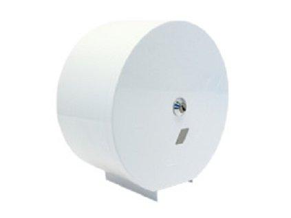 Zásobník toaletního papíru JUMBO 190 mm bílý kovový