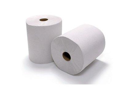Papírové ručníky v roli Maxi bílé 2 VR