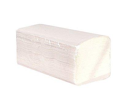Papírové ručníky bílé skládané ZZ 2-vrstvé 4000 ks