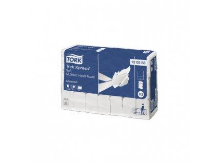 tork advancenced skladane rucniky soft 2vrst bila celuloza recykl 2856 ks kt 120288