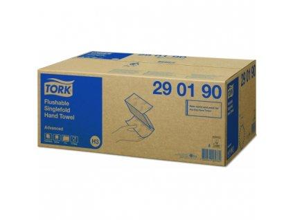 290190tork singlefold splachovatelne papirove rucniky bile 2 vrstv 3750 utr kt