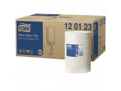TORK Basic papírová utěrka 1vrstvá, bílá
