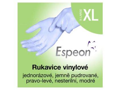 Espeon Vinylové rukavice lehce pudrované modré XL