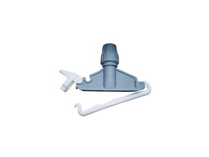 Držák třásňového mopu plastový šedý modrý