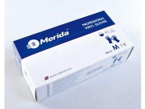 Merida Rukavice vinylové M, 100 ks/balení
