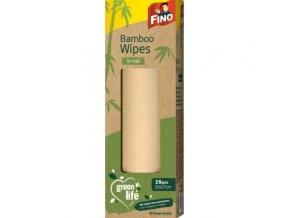 Fino Green Life Kuchyňské bambusové univerzální utěrky na roli 27 x 25 cm 35 kusů