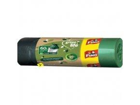 Fino Green Life recyklované PE zatahovací pytle na odpad, 63 × 72 cm, 60 l, 10 ks