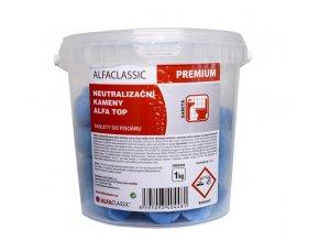 Neutralizační kameny do mušlí ALFA TOP 1 kg, modré