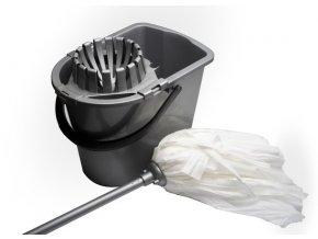 Úklidová souprava EKO se ždímačem (kbelík, ždímač, mop, tyč)