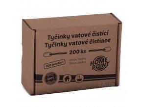 HP ECO Tyčinky vatové čistící 200 ks; 10,8x8,5x4,2 cm