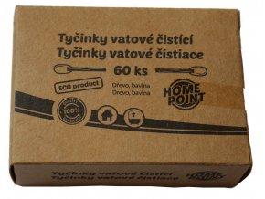 HP ECO Tyčinky vatové čistící 60 ks; 8x5,3x2,8cm