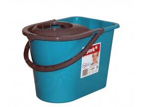 Kbelík ovál + ždímač; 36x26x25 cm; 14 l; plast; mix barev