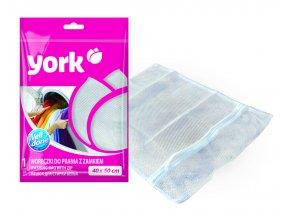 Sáček na praní se zipem; 40x50 cm; plast