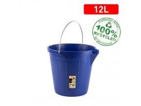 Kbelík STRONG 12l modrá; 31x31x27 cm; plast, kov