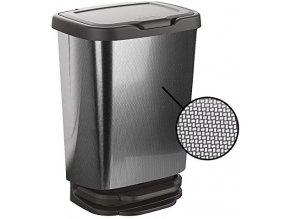 Koš odpadkový nášlapný Jive 20l; 33,2x25,2x45,8cm; plast