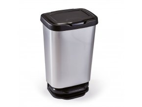 Koš odpadkový nášlapný Jive 40l; 39,2x29,6x63,4cm; plast