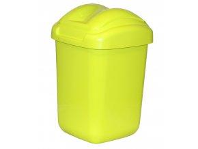 Koš FALA výklopný s tvarovaným víkem zelený; 37x24,5x26 cm; 15 l; plast