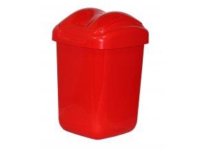 Koš FALA výklopný s tvarovaným víkem červený; 37x24,5x26 cm; 15 l; plast