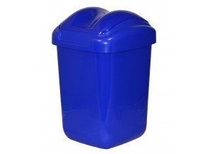 Koš FALA výklopný s tvarovaným víkem modrý; 37x24,5x26 cm; 15 l; plast