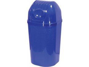 Koš DinDon MODRÁ odpadkový hranatý s víkem; 67x34 cm; 50 l; plast