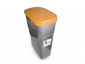 Koš na tříděný odpad oranžové víko; 60x42x27 cm; 40 l; plast
