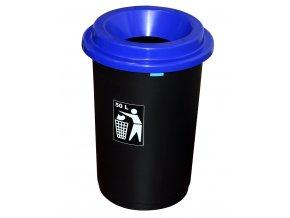 Koš EKO modré víko; 60x41,5 cm; 50 l; plast