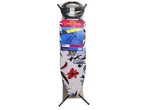 Prkno Pola žehlící; 110x35x90 cm; bavlna, dřevotříska; mix barev