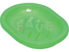 Držák na mýdlo, dvojitý; 13x10 cm; plast; mix barev
