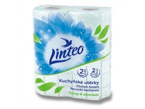 Linteo Satin - papírové kuchyňské utěrky - 2-vrstvé, 2 × 10 m