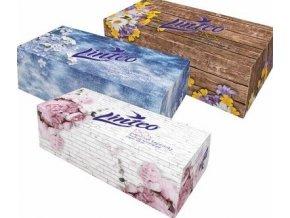Linteo Satin papírové kapesníčky v krabičce 2-vrstvé 100ks