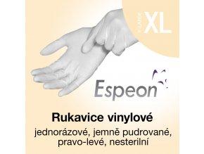 Espeon vinylové rukavice lehce pudrované XL