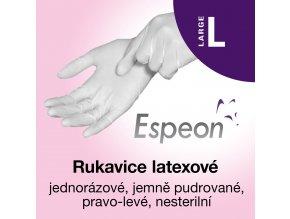 Espeon Latexové rukavice lehce pudrované L